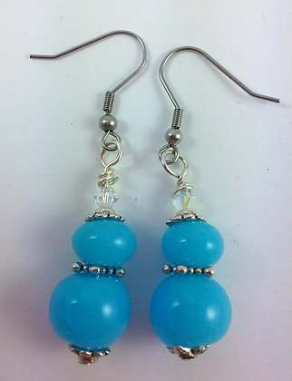 Two turquoise beads