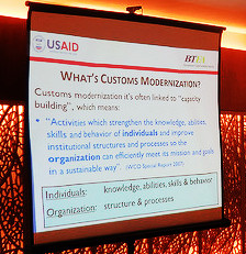 Customs modernization as explained through capacity building at BTFA-led workshop.