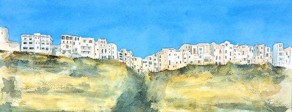 Corsica, Boneface - Print 40cm x 20cm