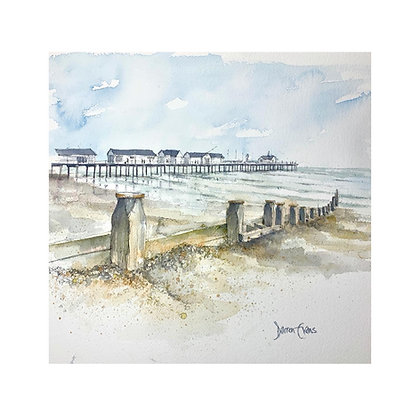 Southwold Pier - Original Watercolour - 35 x 30cm