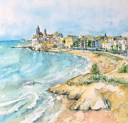 Sitges - Original watercolour