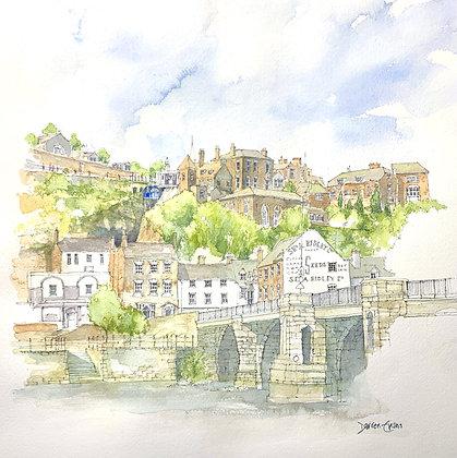 Bridgnorth - PRINT of Original Watercolour