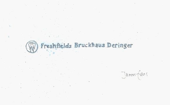 Limited Edition Print of the Freshfields logo - 20 x 10cm