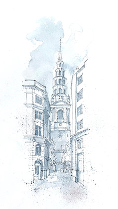 Limited Edition Print of St. Bride's Church, Fleet Street