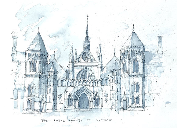 Limited Edition Print of The Royal Courts of Justice
