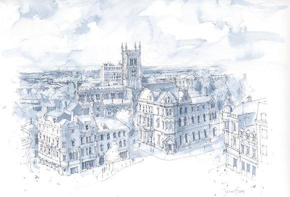 Wolverhampton - Original Watercolour - 40 x 50cm