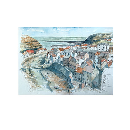 Staithes - Original Watercolour - 42 x 30cm