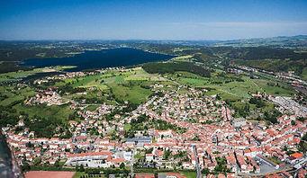 Vu aérienne Langogne Hotel du Languedoc