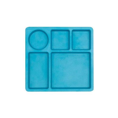 Bobo & boo - Bamboo Divided Plate - Dolphin Blue