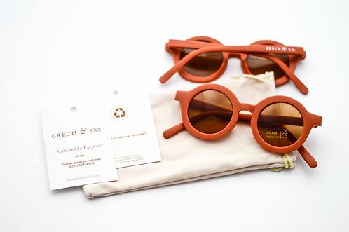 Sustainable Kids Sunglasses - RUST