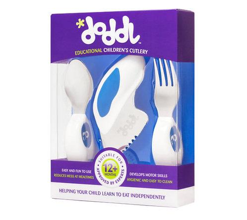 Doddl 3 Pcs Childern Cutlery - Blueberry Blue