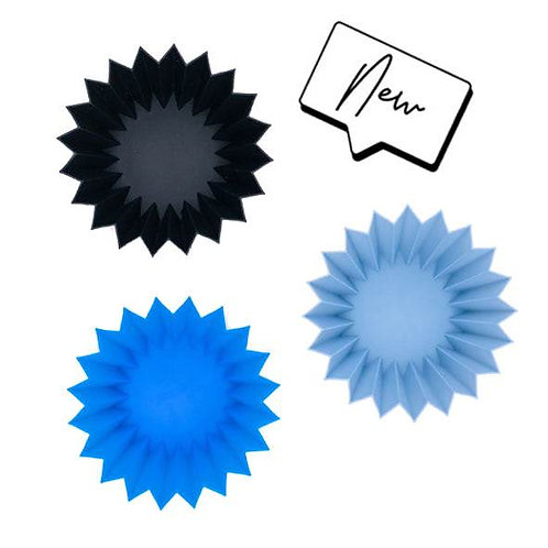Lunch Punch Silicone Cups Set - Blue (Set of 3)