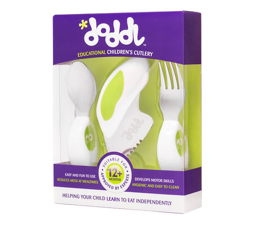 Doddl 3 Pcs Childern Cutlery - Lime Green