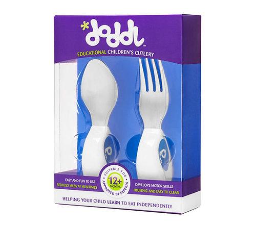Doddl 2 Pcs Childern Cutlery - Blueberry Blue