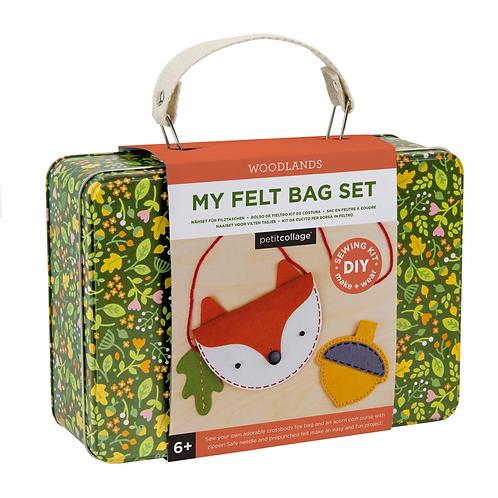 DIY Woodland Fox Felt Bag