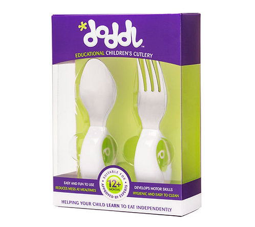 Doddl 2 Pcs Childern Cutlery - Lime Green