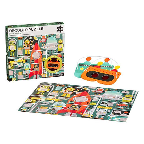 Robot Factory 100-Piece Decoder Puzzle