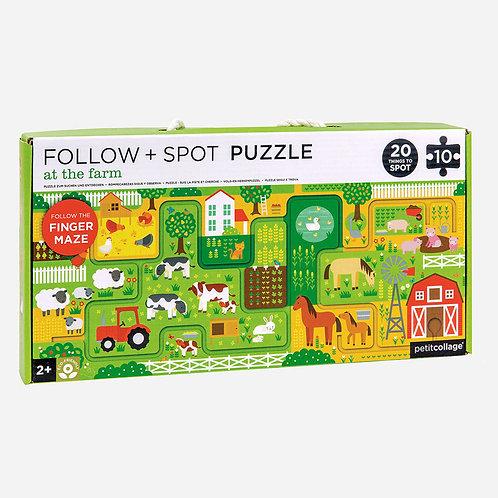 Follow + Spot Puzzle - At The Farm