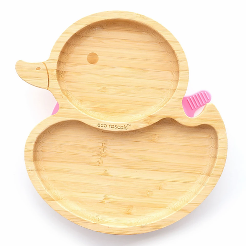 Duck Bamboo Suction Plate