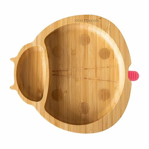 Ladybird Bamboo Suction Plate