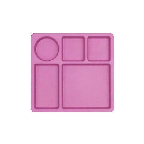 Bobo & boo - Bamboo Divided Plate - Flamingo Pink