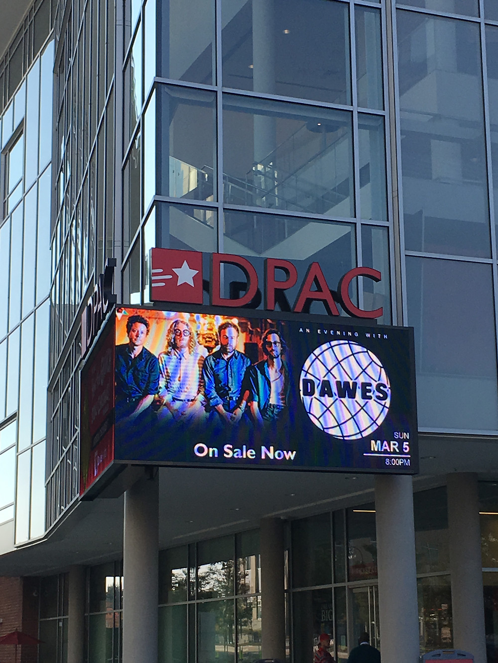 DPAC on a friday afternoon. Make sure to check it out as some big shows are playing at DPAC!