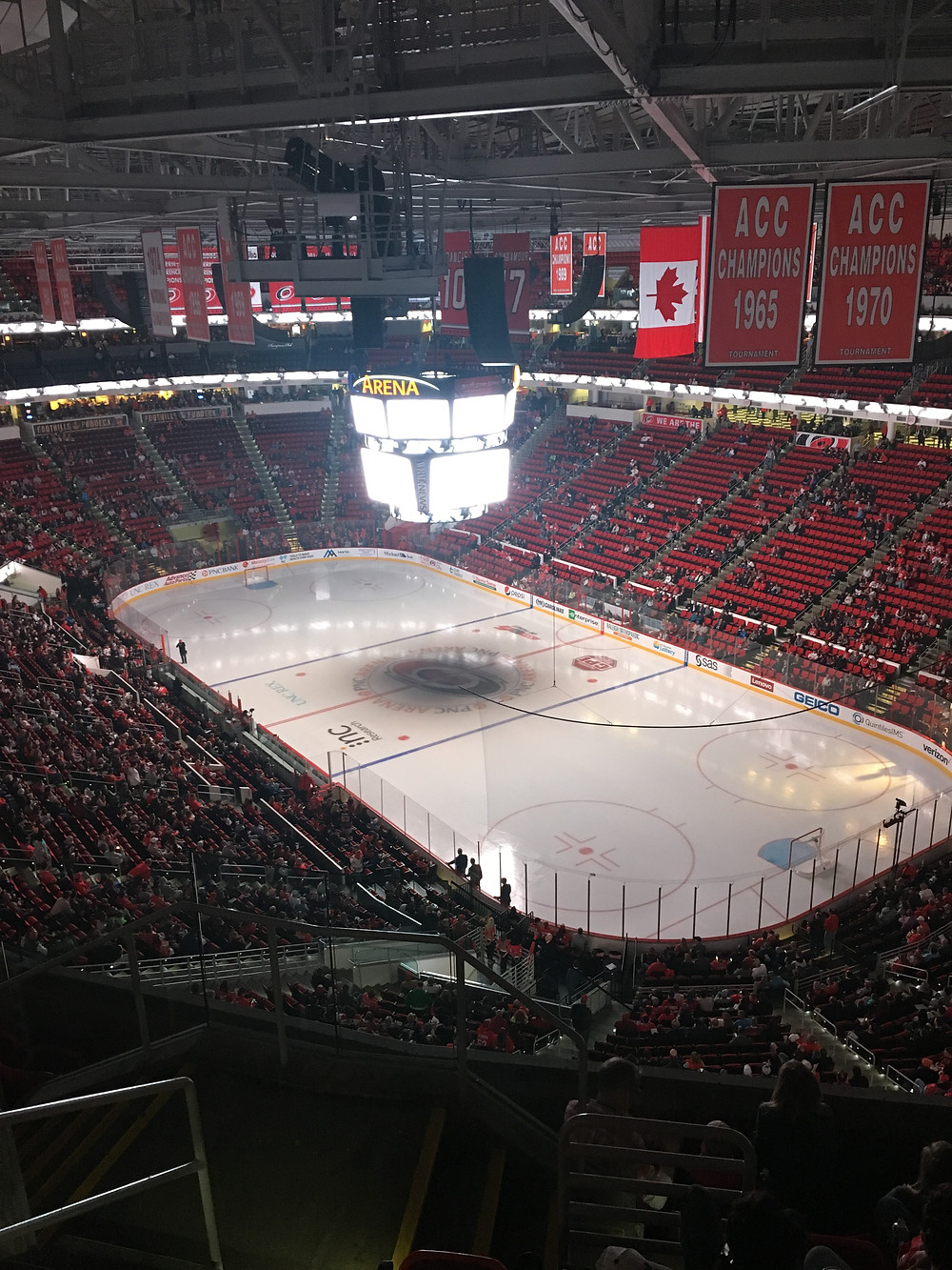 PNC Arena moments before gametime