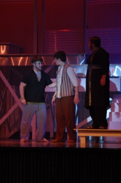 "Here I am in 2008 portraying the famous ""Old Man"" character in Jesus Christ Superstar in our high school musical."