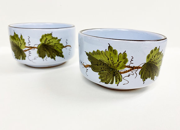 Pair of Hand-Painted Italian Bowls