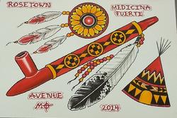 Instagram - Hell yea! String medicine! Hand  Painted sheet by mo #santsrosaavenu