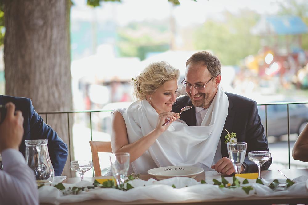 svatební hostina wedding reception bride groom děčín