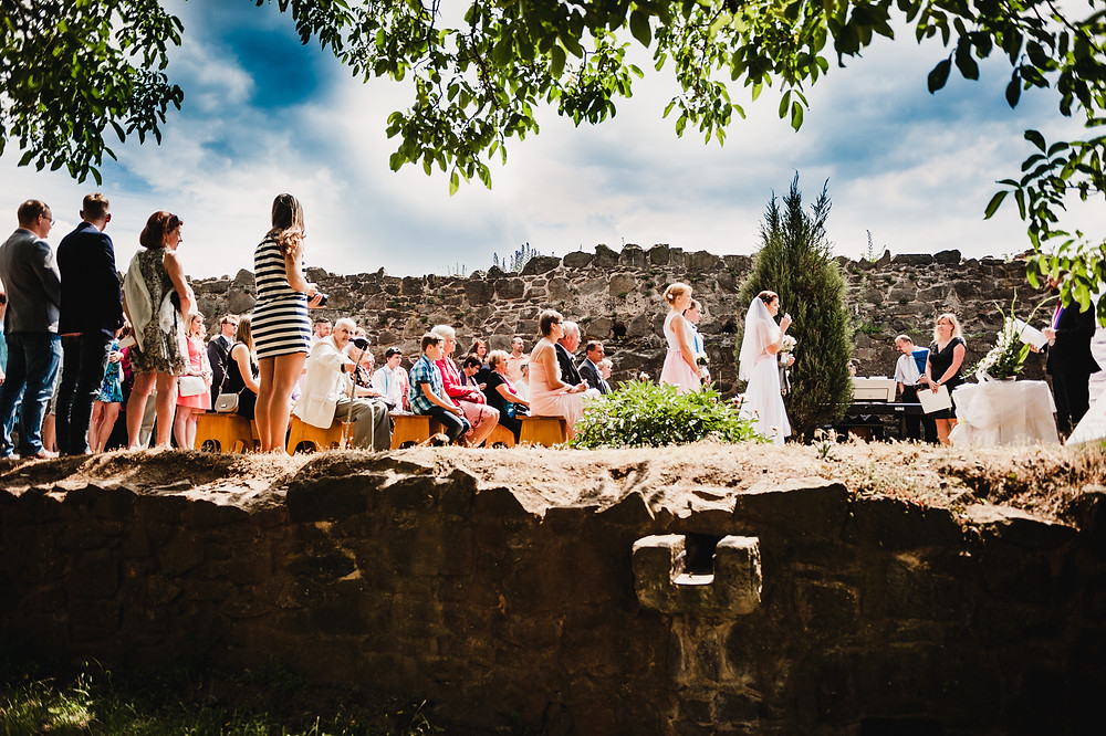 boho svatební prostory na Kunětické hoře