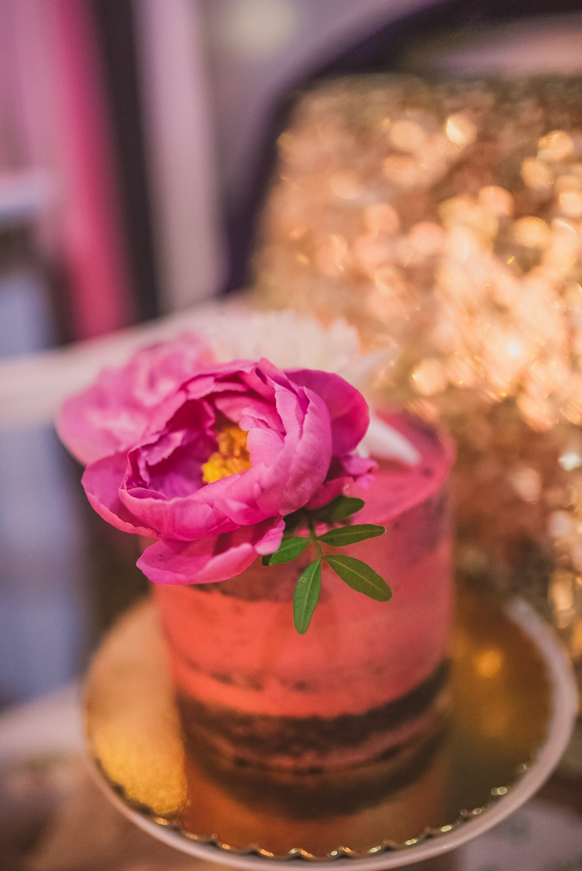 destination wedding - gold and pink decor