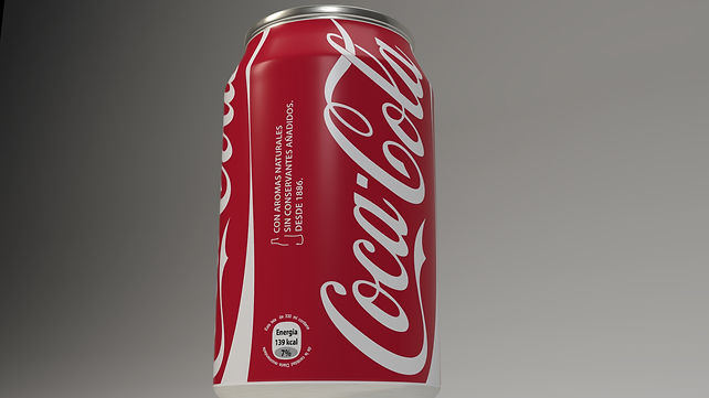 Cocacola 3D cans model and MentalRey Render