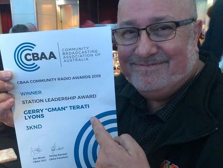 G-Man Wins The CBAA Station Leadership Award!