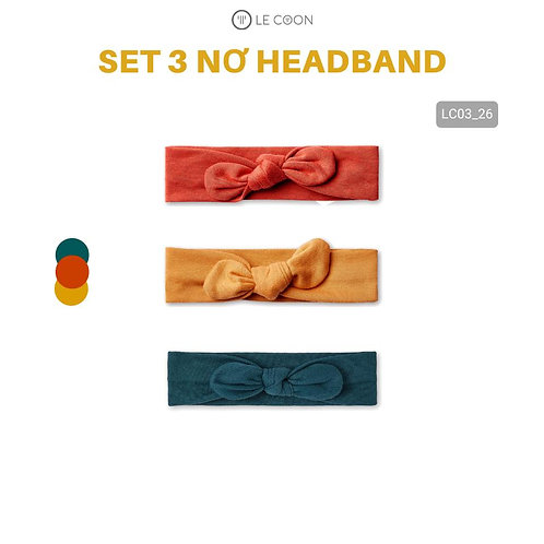 SET 3 NƠ HEADBAND