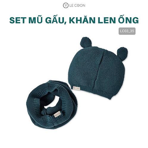 SET MŨ GẤU, KHĂN LEN ỐNG