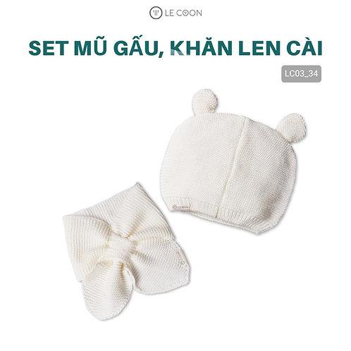 SET MŨ GẤU, KHĂN LEN CÀI