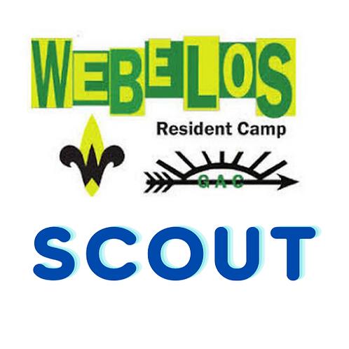 2021 Webelos Resident Camp -Scout Registration