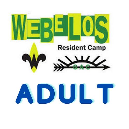 2021 Webelos Resident Camp -Adult Leader Registration