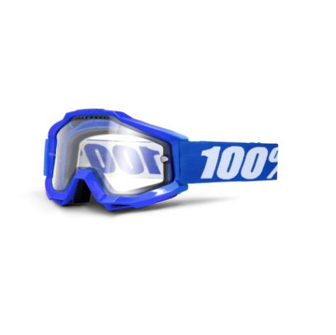100% Accuri Enduro MTB Goggles Reflex Blue / Clear Lens