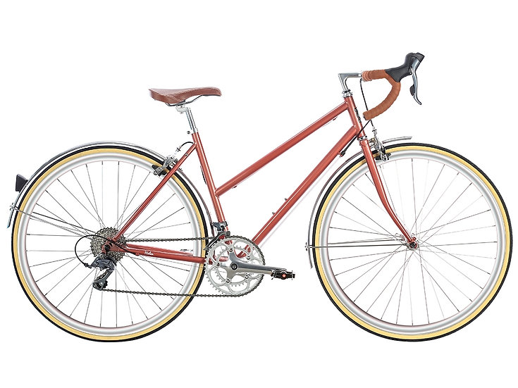 6KU Helen 16spd City Bike - Rose Gold