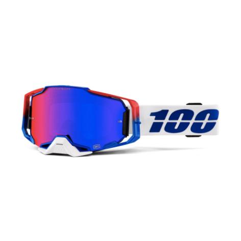 100% Armega Goggle Genesis / HiPER Red Blue Mirror Lens