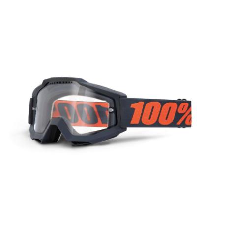 100% Accuri Enduro MTB Goggles Gunmetal / Clear Lens