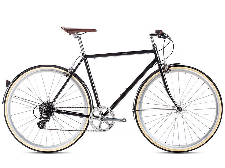 6KU Odyssey 8spd City Bike - Delano Black