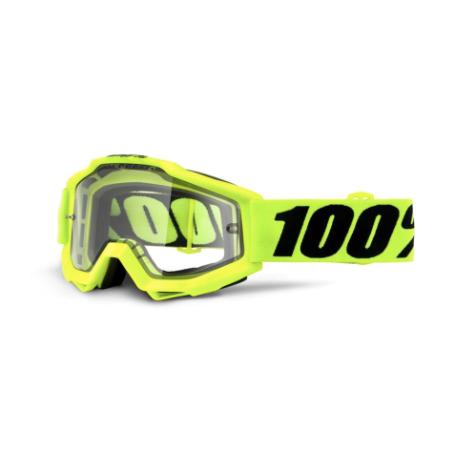 100% Accuri Enduro MTB Goggles Fluo Yellow / Clear Lens