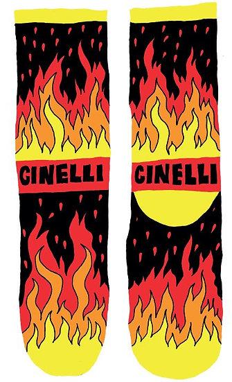 Cinelli x Ana Benaroya Fire Socks