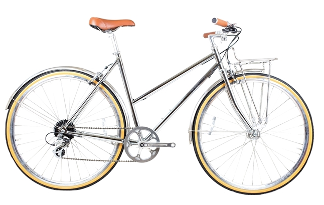 BLB Butterfly 8 Speed Town Bike - Chrome