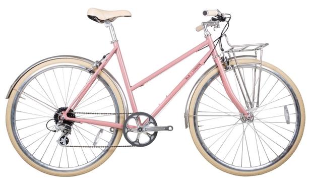 BLB Butterfly 8 Speed Town Bike - Dusty Pink