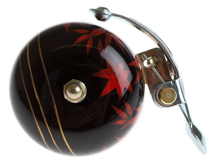 Crane Hand Painted Bell - Black Maple